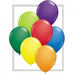 Ballons Qualatex 28 cm - Carnival assortment (par 100)