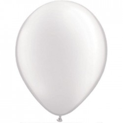 Ballons Qualatex 28 cm - Blanc Pearl White (par 100)