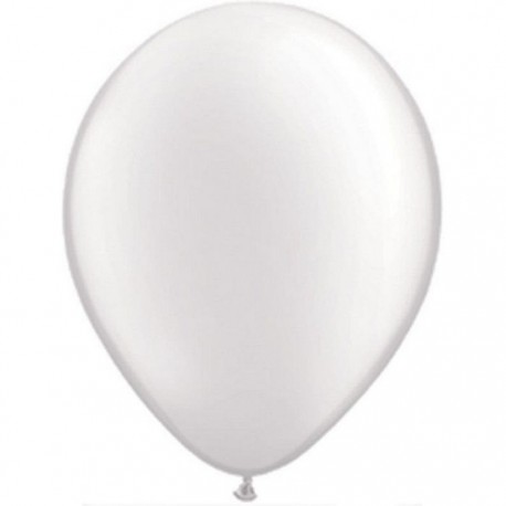 Ballons Qualatex 28 cm - Blanc Pearl White