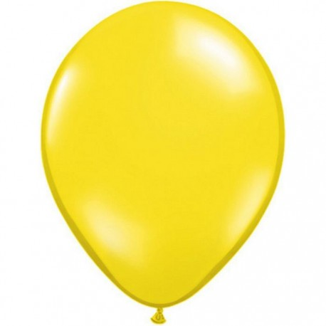 Ballons Qualatex 28 cm - Jaune Citron - par 100