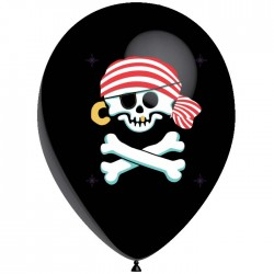 Ballons 28 cm - Pirates Jolly Roger (par 25)