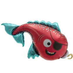 Ballon mylar Poisson Pirate Grand Modèle - 104 cm