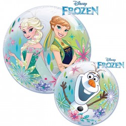 Ballon Bubble 30 cm - Reine des Neiges - Frozen Fever (par 10)