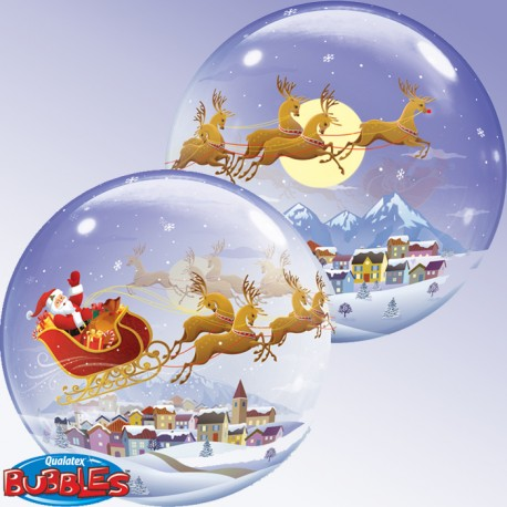 Ballon Bubble - Père Noel (56 cm)