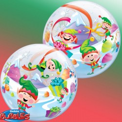 Ballon Bubble - Elfes de Noel (56 cm)
