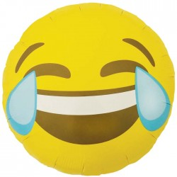 Ballon Mylar Emoji Laughing Crying - 46 CM