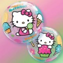 Ballon Bubble Hello Kitty Anniversaire - 56 cm