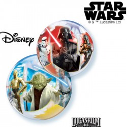 Ballons Bubble 30 cm - Star Wars Light VS Dark Sides (par 10)