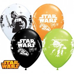 Ballons Star Wars - Dark Vador & Yoda - Assortiment (par 25)