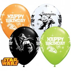 Ballons Star Wars - Birthday / Anniversaire - Assortiment (par 25)