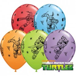Ballons Tortue Ninja Teenage Mutant - Assortiment (par 25)