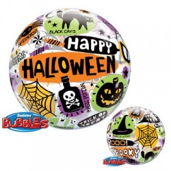 Ballon Bubble Happy Halloween - 56 cm