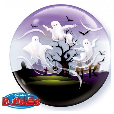 Ballon Bubble Halloween - Spooky Ghost - 56 cm