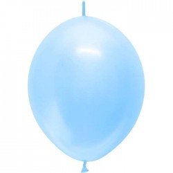 Ballons nacrés 30 cm - double attaches - CIEL (par 50)