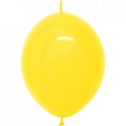 Ballons nacrés 30 cm, double attaches. JAUNE