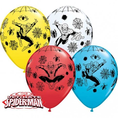 Ballons Ultimate Spider Man - 30 cm - Assortiment (par 25)