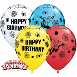 Ballons Anniversaire - Ultimate Spider Man - Assortiment (par 25)