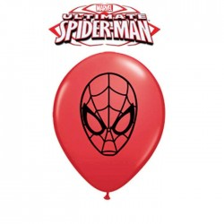 "Ballons Rouge ""Spider Man Face"" - 13 cm (par 100)"
