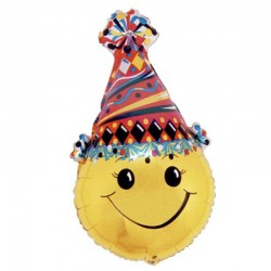 Ballon Mylar Emoji Smiley - 63 cm