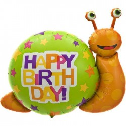 Ballon Mylar - Birthday Escargot - 104 cm